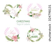 christmas banners and tags for... | Shutterstock .eps vector #324798131