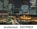 tokyo station and cityscape...   Shutterstock . vector #324799829