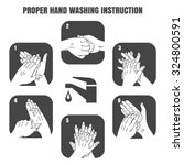proper hand washing instruction ... | Shutterstock .eps vector #324800591