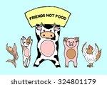 friends not food cute animals ... | Shutterstock .eps vector #324801179