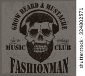grow beard and mustache label... | Shutterstock .eps vector #324802571