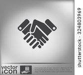 shaking hands icon  handshake....   Shutterstock .eps vector #324803969