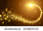 christmas background with gold... | Shutterstock .eps vector #324805151