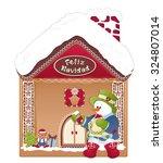 christmas gingerbread house.... | Shutterstock .eps vector #324807014