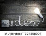 creativity concept idea letters ... | Shutterstock . vector #324808007