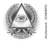 all seeing eye in delta... | Shutterstock .eps vector #324808991