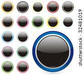 vector editable round buttons | Shutterstock .eps vector #32481019
