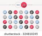 website seo colorful flat icons ...