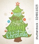 we wish you a merry christmas.... | Shutterstock .eps vector #324811025