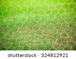 white nylon nets on green grass   Shutterstock . vector #324812921