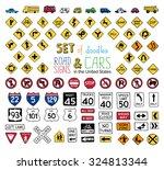 vector set of doodles road... | Shutterstock .eps vector #324813344