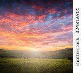 beautiful summer landscape  | Shutterstock . vector #324816905