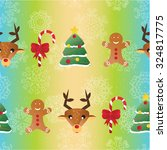 new year seamless pattern.... | Shutterstock .eps vector #324817775