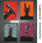 rock backgrounds. four... | Shutterstock .eps vector #324818891