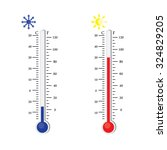 thermometer icon. vector.... | Shutterstock .eps vector #324829205
