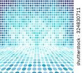 blue dot empty perspective... | Shutterstock . vector #324830711
