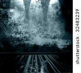grunge room with spotlights | Shutterstock . vector #32483239