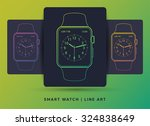 smart watch icons. vector apple ...