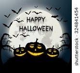 vector illustration of happy... | Shutterstock .eps vector #324841454