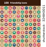 friendship 100 icons universal... | Shutterstock .eps vector #324843011