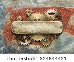 Clockwork Mechanism On Rusty...