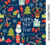 vintage merry christmas and... | Shutterstock .eps vector #324847991