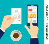 mobile payment concept. flat... | Shutterstock .eps vector #324851987