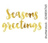 Seasons Greetings Written In...