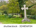 Single Cross Headstone In...