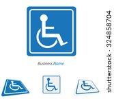 logo handicap   Shutterstock .eps vector #324858704