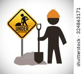 under construction concept with ...   Shutterstock .eps vector #324863171