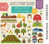 great city map creator. house... | Shutterstock .eps vector #324865334