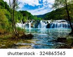 waterfalls krka  national park  ... | Shutterstock . vector #324865565