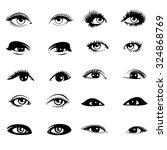 Beautiful Woman Eyes. Vector...