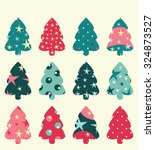 christmas tree set  can be used ...   Shutterstock .eps vector #324873527