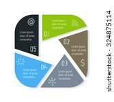 eps10 square infographic... | Shutterstock .eps vector #324875114