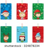 collection of christmas tags... | Shutterstock .eps vector #324878234