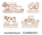 set of vintage retro logo....