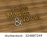 vision  mission  values   typo | Shutterstock . vector #324887249