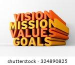 vision  mission  values   goals ... | Shutterstock . vector #324890825