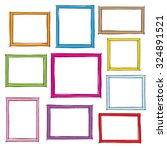 photo frames doodle sketch ... | Shutterstock .eps vector #324891521