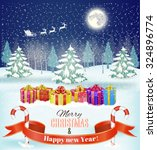 holiday christmas and  new year ... | Shutterstock .eps vector #324896774