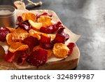 crisp crunchy organic vegetable ... | Shutterstock . vector #324899987