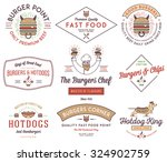 vector fast food badges and... | Shutterstock .eps vector #324902759