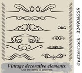 vintage patterns. to decorate... | Shutterstock .eps vector #324906239
