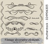 vintage patterns. to decorate... | Shutterstock .eps vector #324906305