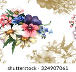 garden budget pattern 5 | Shutterstock . vector #324907061