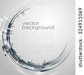 techno vector circle abstract... | Shutterstock .eps vector #324911069