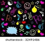 background with funny colored... | Shutterstock .eps vector #32491486