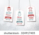christmas labels   decorations... | Shutterstock .eps vector #324917405